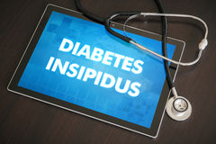 Diabetes insipidus (endocrine disease) diagnosis medical concept Royalty Free Stock Photo