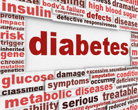 Diabetes medical condition message Royalty Free Stock Images