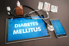 Diabetes mellitus (endocrine disease) diagnosis medical concept Stock Photos