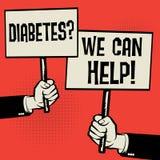 Diabetes? Nós podemos ajudar! ilustração royalty free