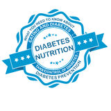 Diabetes Nutrition. Take control of Diabetes Stock Photos