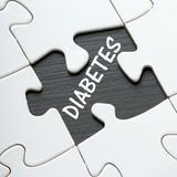 Diabetes Puzzle Royalty Free Stock Photos