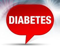 Diabetes Red Bubble Background vector illustration