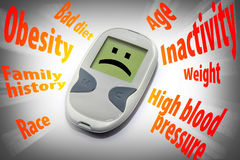 Diabetes risk factors Royalty Free Stock Image