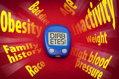 Diabetes risk factors Stock Photography