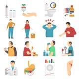 Diabetes Symptoms Icons Set Royalty Free Stock Photo