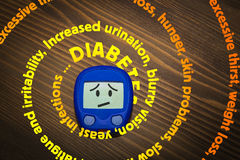 Diabetes symptoms spiral Stock Image