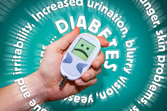 Diabetes symptoms spiral Royalty Free Stock Images