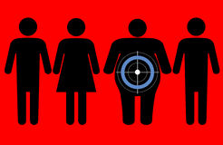 Diabetes targeting overweight people royalty free illustration