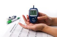 Diabetes test Stock Images