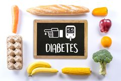 A diabetes test, health Medical Concept , Obesity , blood test royalty free stock images