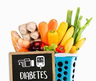 A diabetes test, health Medical Concept , Obesity , blood test royalty free stock photos