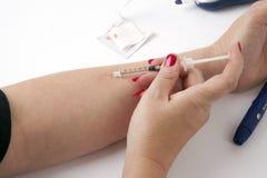 Diabetes Testing Royalty Free Stock Photos
