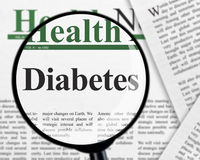 Diabetes under magnifying glass Royalty Free Stock Photo