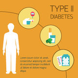 Diabetes Vector illustration Royalty Free Stock Photos