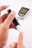 Diabetes vrouw Stock Foto