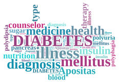 Diabetes word cloud Stock Photos