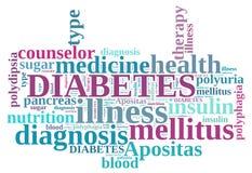 Diabetes word cloud. On white background Stock Photos