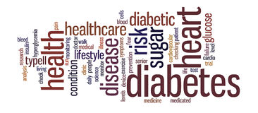 Diabetes Word Tag Cloud Illustration royalty free stock photos