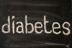 Diabetes word writen with sugar Royalty Free Stock Image