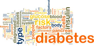 Diabetes wordcloud Stock Photography