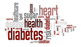 Diabetes-Wort-Tag-Cloud-Illustration Lizenzfreie Stockbilder