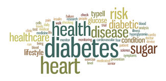 Diabetes-Wort-Tag-Cloud-Illustration stock abbildung