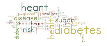 Diabetes-Wort-Tag-Cloud-Illustration stockbild