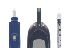 Diabetesausrüstung Lizenzfreie Stockfotografie