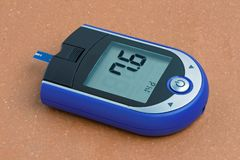 Diabetesbloed Sugar Monitor stock foto's