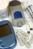 Diabetesselbsttestsatz Lizenzfreies Stockfoto