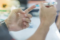 Diabetestest lizenzfreie stockfotos