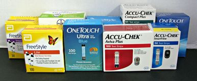 Diabetesteststroken Stock Foto