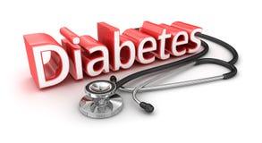 Diabetestext, medicical Konzept 3d Lizenzfreie Stockfotografie