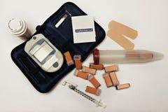Diabetesutensilien Stockfotos