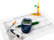 Diabetic concept Stock Photography