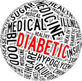 Diabetic health care info-text Royalty Free Stock Photos
