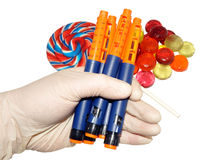 Diabetic Insulin Pens Royalty Free Stock Photography