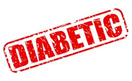 DIABETIC red stamp text Stock Photo