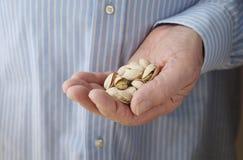 Diabetic snack serving of pistachio nuts Stock Image