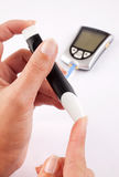 Diabetic woman Stock Photo