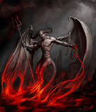 Diable illustration libre de droits