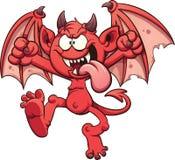 Diable de bande dessinée illustration libre de droits