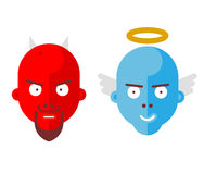 Diable et ange illustration de vecteur