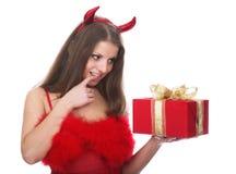 Diable rouge Photo libre de droits