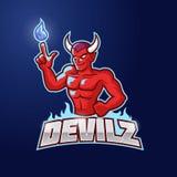 Diable rouge Esport Logo Template Illustration Libre de Droits