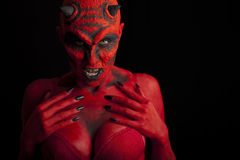 Diable rouge sexy. Photos stock