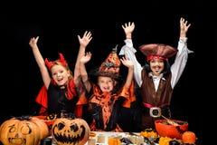 Diable, sorcière et pirate de Halloween Image stock