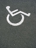 Diabled parking Stock Photos