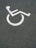 diabled parkingu zdjęcia stock